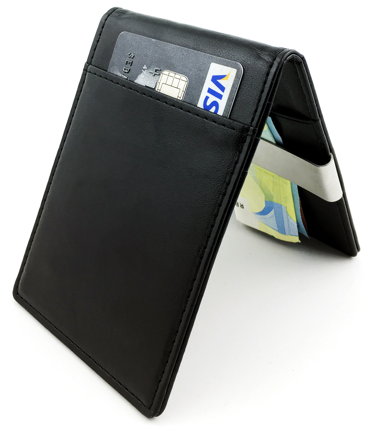 a6db5057bc40 Home / Wallet and Purse / Small and Slim Front Pocket Wallet and Purse / Money  Clip Wallet – Bifold Front Pocket Rfid Blocking Credit Card Case for Men ...