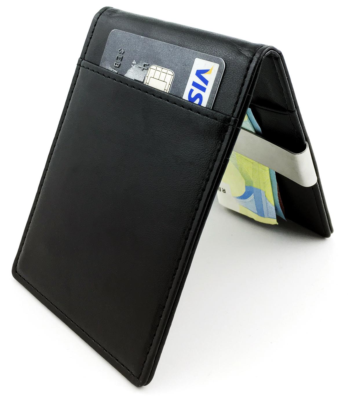 10 X Sets Stainless Steel Money Clip Cash Credit Card Holder Wallet Purse Blue